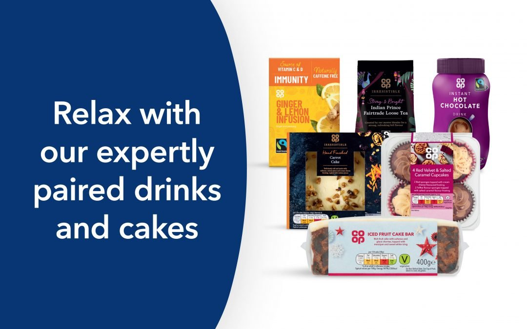 Relax with our expertly paired drinks and cakes…