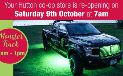 Your new look Hutton Co-op Store is re-opening this Saturday morning..